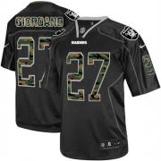 Men's Nike Oakland Raiders 27 Matt Giordano Elite Black Camo Fashion NFL Jersey