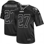 Men's Nike Oakland Raiders 27 Matt Giordano Elite Lights Out Black NFL Jersey