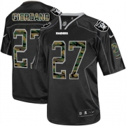 Men's Nike Oakland Raiders 27 Matt Giordano Limited Black Camo Fashion NFL Jersey