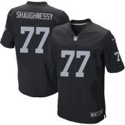 Men's Nike Oakland Raiders 77 Matt Shaughnessy Elite Black Team Color NFL Jersey