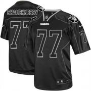 Men's Nike Oakland Raiders 77 Matt Shaughnessy Elite Lights Out Black NFL Jersey