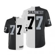 Men's Nike Oakland Raiders 77 Matt Shaughnessy Elite Team/Road Two Tone NFL Jersey