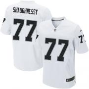Men's Nike Oakland Raiders 77 Matt Shaughnessy Elite White NFL Jersey