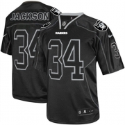 Men's Nike Oakland Raiders 34 Bo Jackson Limited Lights Out Black NFL Jersey