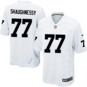 Men's Nike Oakland Raiders 77 Matt Shaughnessy Game White NFL Jersey