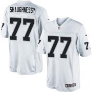 Men's Nike Oakland Raiders 77 Matt Shaughnessy Limited White NFL Jersey