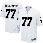 Youth Nike Oakland Raiders 77 Matt Shaughnessy Elite White NFL Jersey