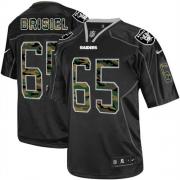Men's Nike Oakland Raiders 65 Mike Brisiel Elite Black Camo Fashion NFL Jersey