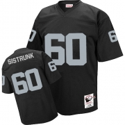 Mitchell and Ness Oakland Raiders 60 Otis Sistrunk Black Team Color Authentic NFL Throwback Jersey