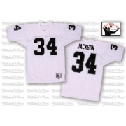 Mitchell and Ness Oakland Raiders 34 Bo Jackson White Authentic NFL Throwback Jersey