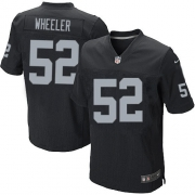 Men's Nike Oakland Raiders 52 Philip Wheeler Elite Black Team Color NFL Jersey