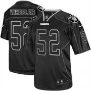 Men's Nike Oakland Raiders 52 Philip Wheeler Elite Lights Out Black NFL Jersey