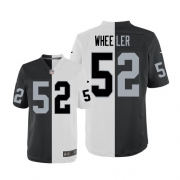 Men's Nike Oakland Raiders 52 Philip Wheeler Limited Team/Road Two Tone NFL Jersey