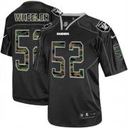 Men's Nike Oakland Raiders 52 Philip Wheeler Elite Black Camo Fashion NFL Jersey