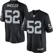 Men's Nike Oakland Raiders 52 Philip Wheeler Limited Black Team Color NFL Jersey