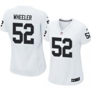 Women's Nike Oakland Raiders 52 Philip Wheeler Elite White NFL Jersey
