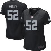 Women's Nike Oakland Raiders 52 Philip Wheeler Game Black Team Color NFL Jersey