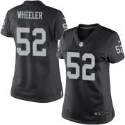 Women's Nike Oakland Raiders 52 Philip Wheeler Limited Black Team Color NFL Jersey