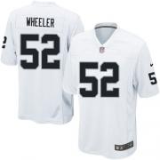 Youth Nike Oakland Raiders 52 Philip Wheeler Elite White NFL Jersey