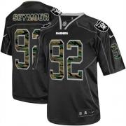 Men's Nike Oakland Raiders 92 Richard Seymour Elite Black Camo Fashion NFL Jersey