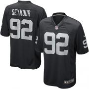 Men's Nike Oakland Raiders 92 Richard Seymour Game Black Team Color NFL Jersey