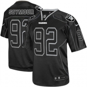 Men's Nike Oakland Raiders 92 Richard Seymour Game Lights Out Black NFL Jersey