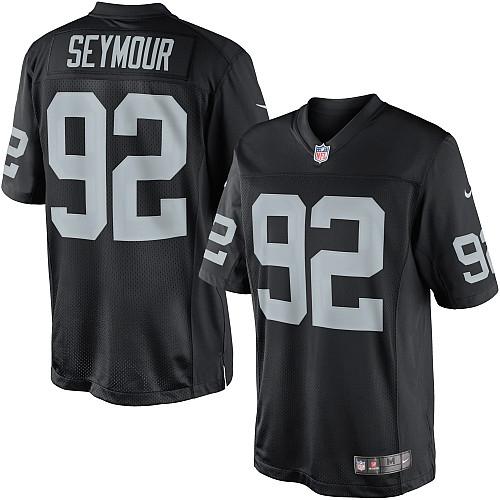 Men's Nike Oakland Raiders 92 Richard Seymour Limited Black Team ...