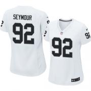 Women's Nike Oakland Raiders 92 Richard Seymour Elite White NFL Jersey