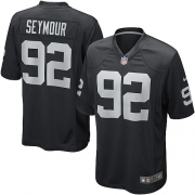 Youth Nike Oakland Raiders 92 Richard Seymour Game Black Team Color NFL Jersey