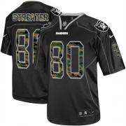 Men's Nike Oakland Raiders 80 Rod Streater Elite Black Camo Fashion NFL Jersey