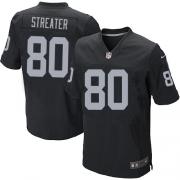 Men's Nike Oakland Raiders 80 Rod Streater Elite Black Team Color NFL Jersey
