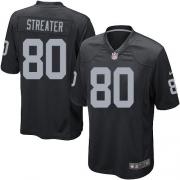 Men's Nike Oakland Raiders 80 Rod Streater Game Black Team Color NFL Jersey