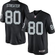 Men's Nike Oakland Raiders 80 Rod Streater Limited Black Team Color NFL Jersey