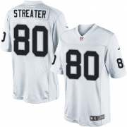 Men's Nike Oakland Raiders 80 Rod Streater Limited White NFL Jersey