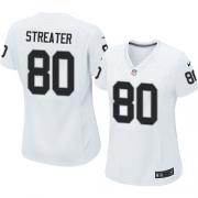 Women's Nike Oakland Raiders 80 Rod Streater Elite White NFL Jersey