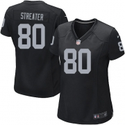 Women's Nike Oakland Raiders 80 Rod Streater Game Black Team Color NFL Jersey
