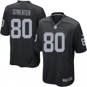 Youth Nike Oakland Raiders 80 Rod Streater Elite Black Team Color NFL Jersey