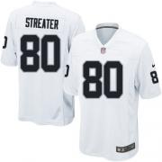 Youth Nike Oakland Raiders 80 Rod Streater Elite White NFL Jersey