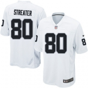 Youth Nike Oakland Raiders 80 Rod Streater Limited White NFL Jersey