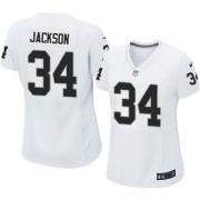 Women's Nike Oakland Raiders 34 Bo Jackson Elite White NFL Jersey