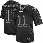 Men's Nike Oakland Raiders 11 Sebastian Janikowski Elite Lights Out Black NFL Jersey