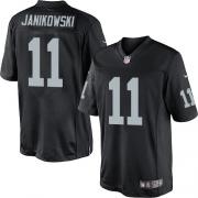 Men's Nike Oakland Raiders 11 Sebastian Janikowski Limited Black Team Color NFL Jersey