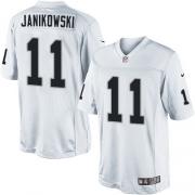 Men's Nike Oakland Raiders 11 Sebastian Janikowski Limited White NFL Jersey