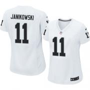 Women's Nike Oakland Raiders 11 Sebastian Janikowski Elite White NFL Jersey
