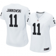 Women's Nike Oakland Raiders 11 Sebastian Janikowski Limited White NFL Jersey