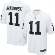 Youth Nike Oakland Raiders 11 Sebastian Janikowski Elite White NFL Jersey