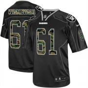 Men's Nike Oakland Raiders 61 Stefen Wisniewski Elite Black Camo Fashion NFL Jersey