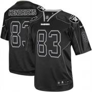 Men's Nike Oakland Raiders 83 Ted Hendricks Elite Lights Out Black NFL Jersey
