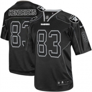 Men's Nike Oakland Raiders 83 Ted Hendricks Limited Lights Out Black NFL Jersey