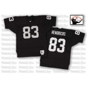 Mitchell and Ness Oakland Raiders 83 Ted Hendricks Black Team Color Authentic NFL Throwback Jersey